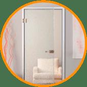 Стеклянне двери