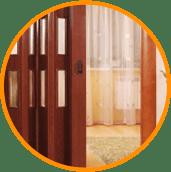 Установка дверей гармошка